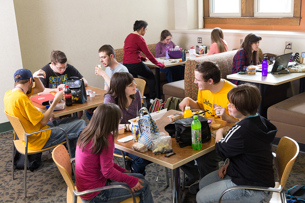Student lounge at Nazareth College