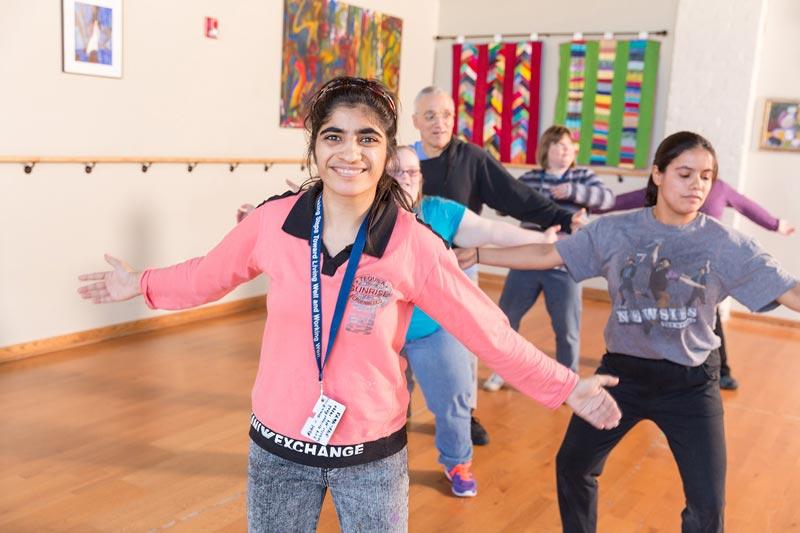 people dancing exercises