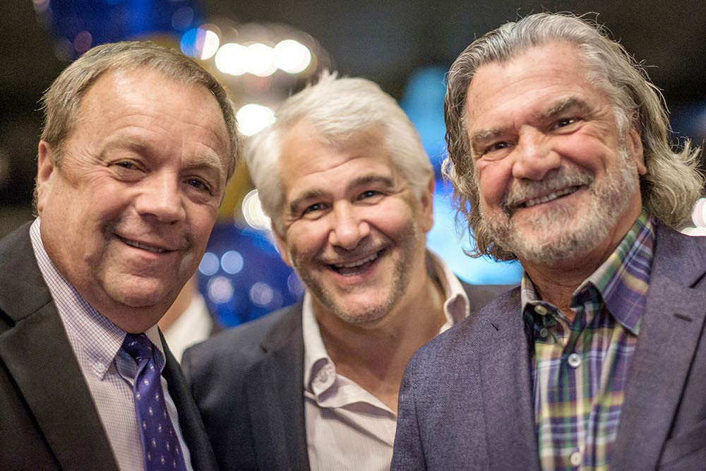 Steve Chartrand and two other gentleman wearing suits