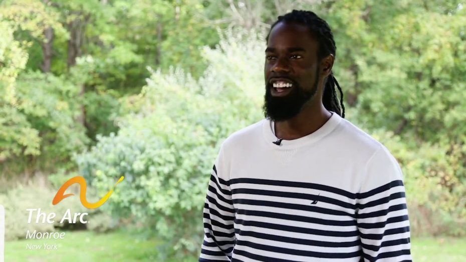 a young man Jarmani, residence manager at The Arc of Monroe, talks about why he loves his job